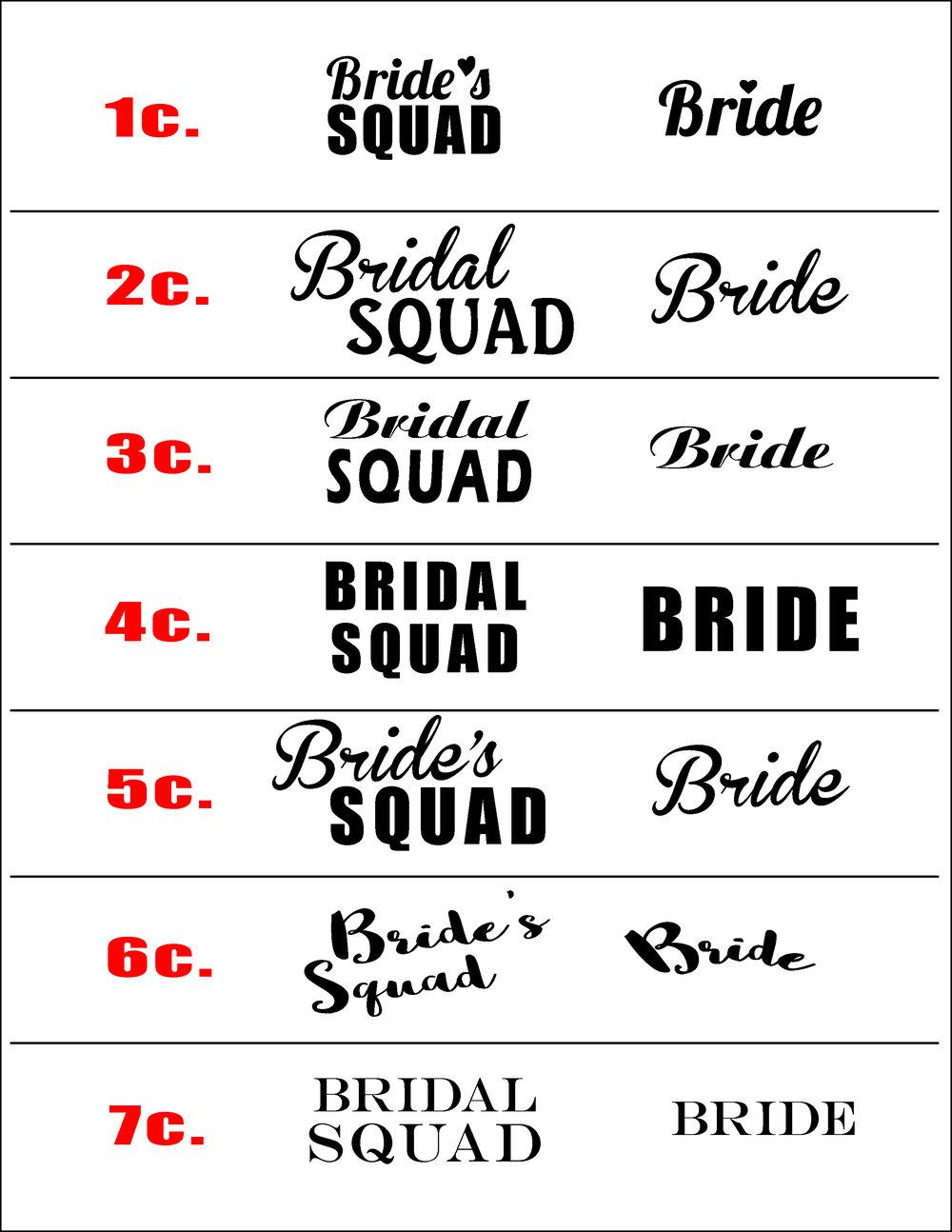 Bachelorette Squad Graphics