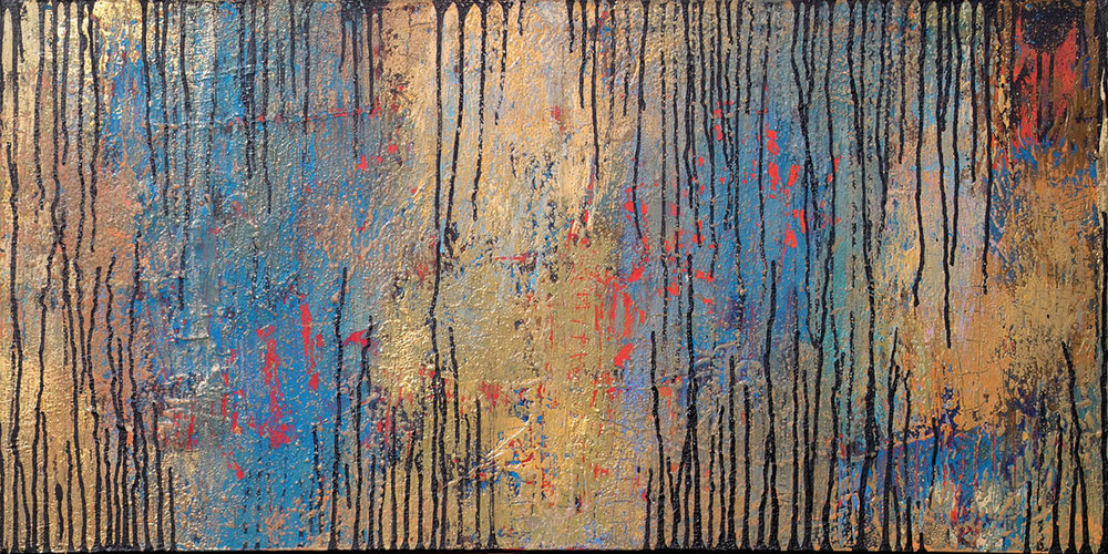 That Forest 11. Mixed Media on Canvas. 24x48