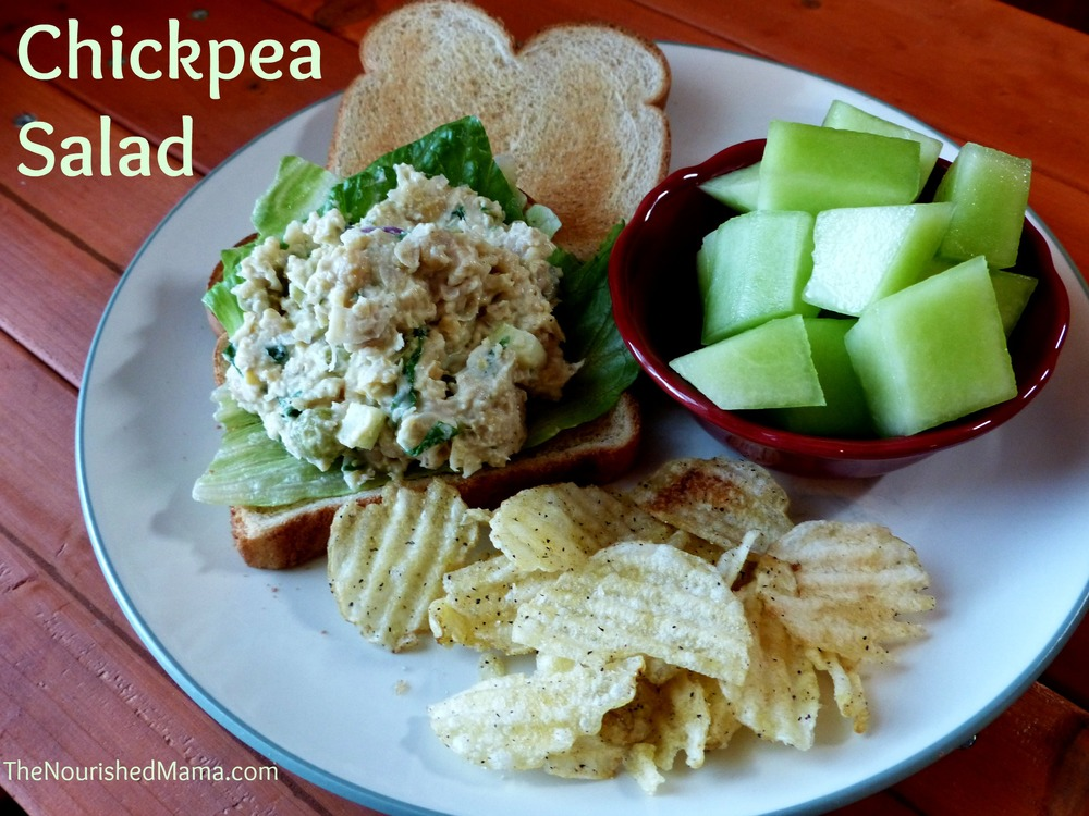 "Chickpea ""Chicken"" Salad Recipe by The Nourished Mama."