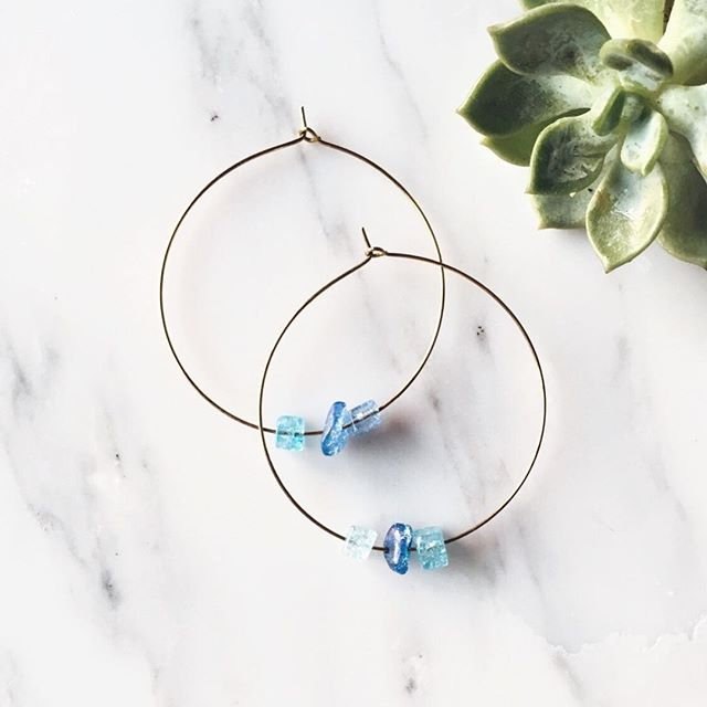 #throwback to these blue crystal gemstone hoops 💙
