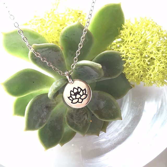 lotus flower silver necklace 🌱