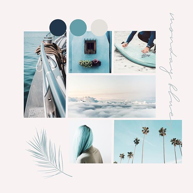 those monday blues - today's #moodboard vibes. courtesy of the overcast & rainy day 🌧 @grandviewcollective . . . #grandviewcollective #design #branding #designer #whitespacewinter #typography #inspo #moodboardmonday #blues #aqua #print#graphicdesign #thatsdarling #brandcuration #fwportfolio#createcultivate #inspofinds#mindsparklemag #thegramgang#lovelysquares #communityovercompetiton#smallbiz #smallbizbranding #logodaily #logodesigners #logodesigner #smallbusinessmarketing