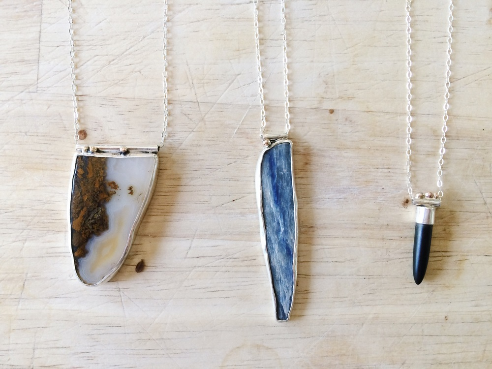 three marfa light inspired pendants