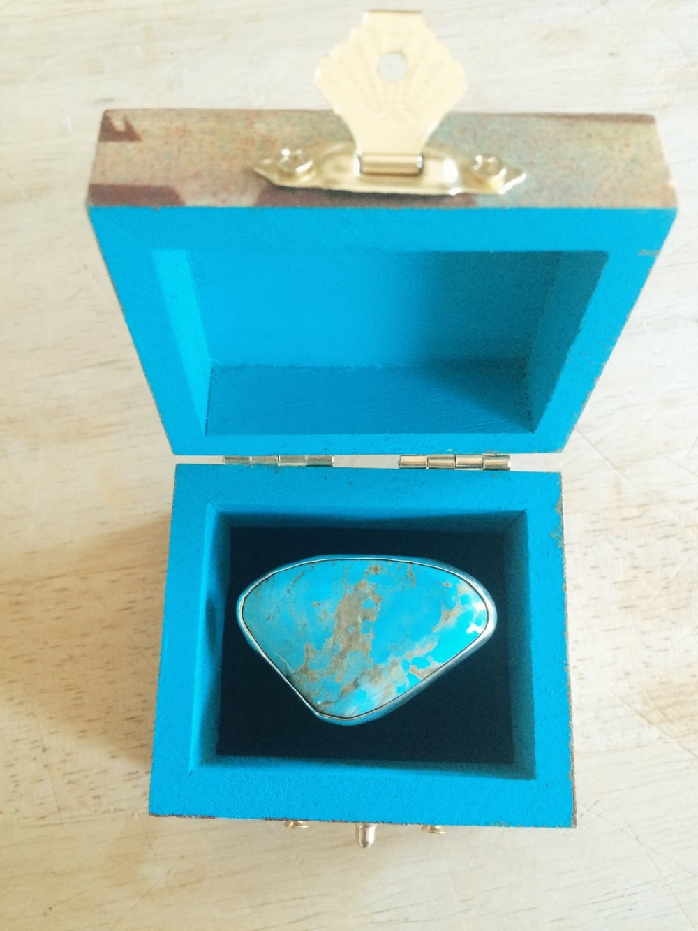 custom turquoise ring by loving anvil