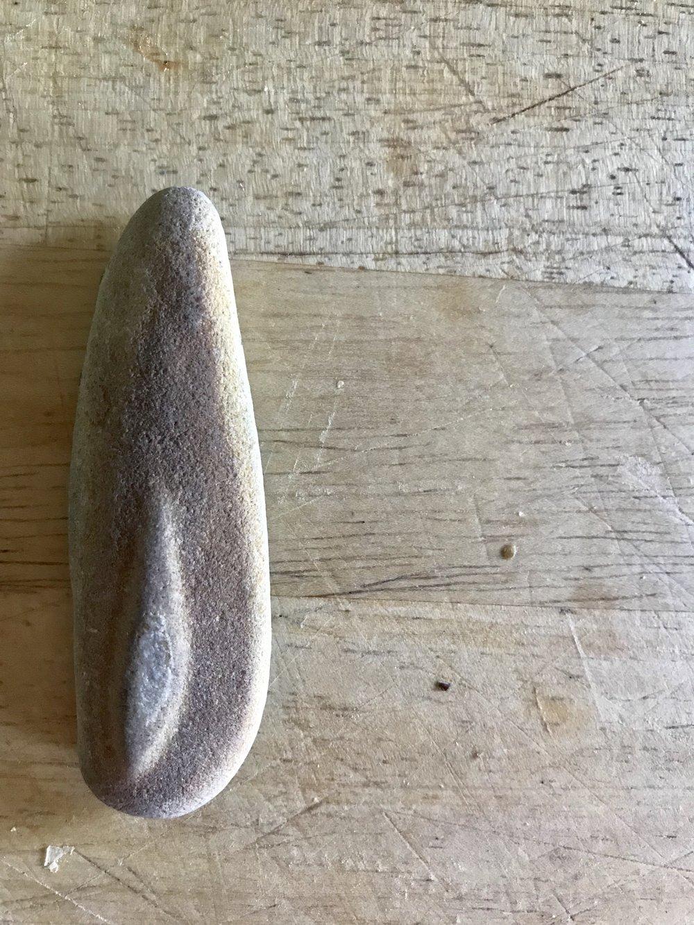 maine beach stone ring - large