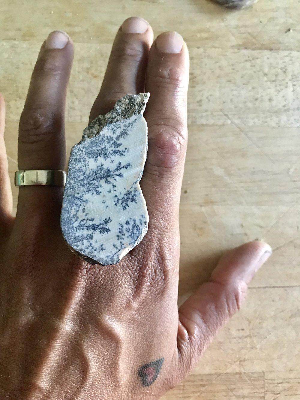 rough dendritic jasper