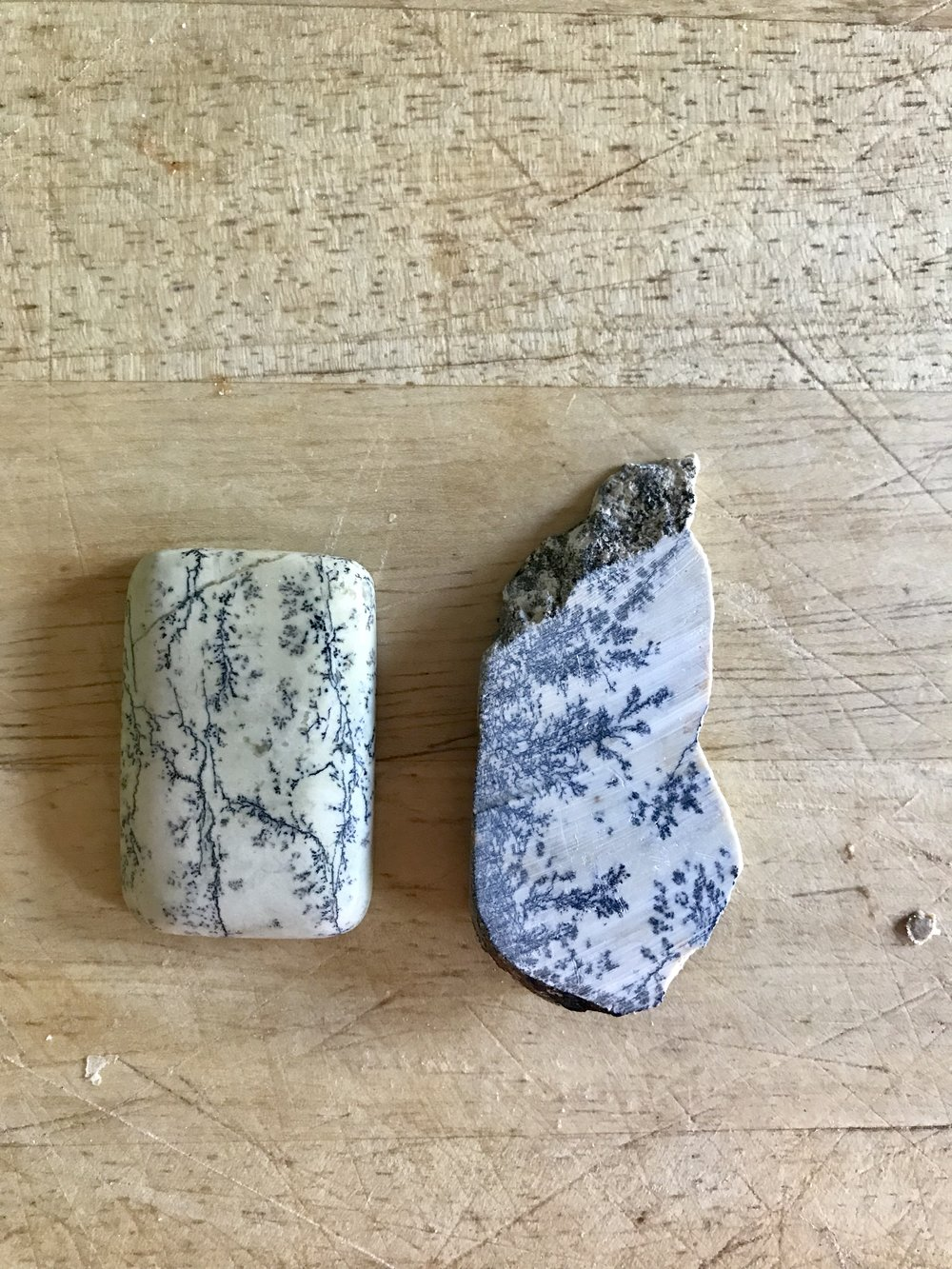 polished next to rough
