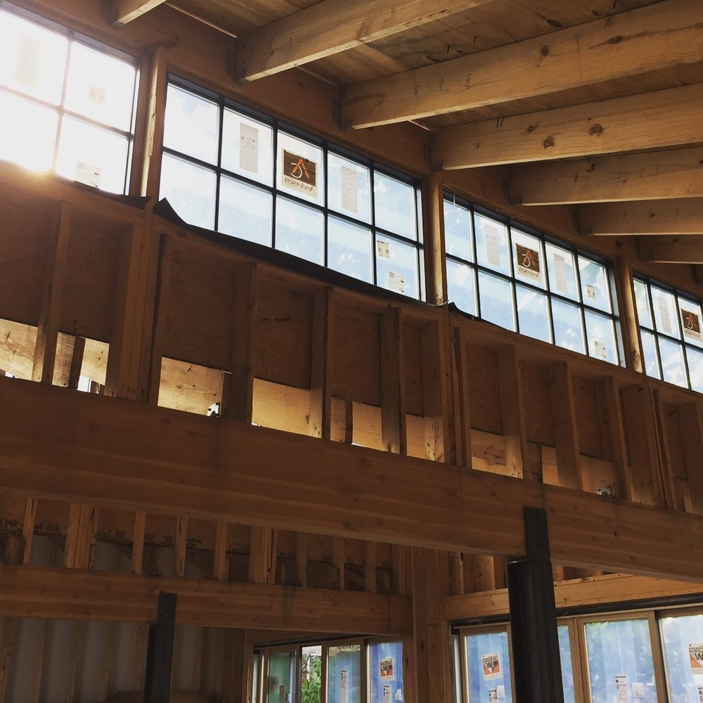 Interior Second Floor - Clerestory windows allow natural light to flood into the space.