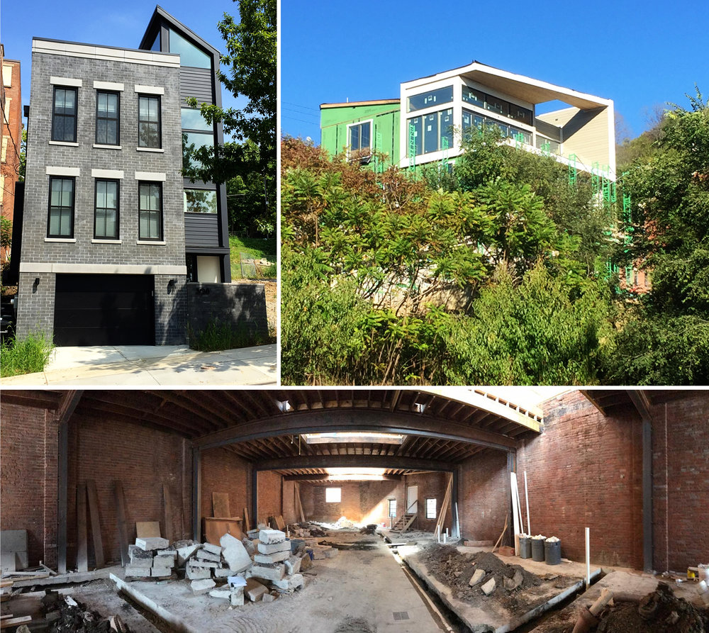 Our LEED Projects (Clockwise from Left): Mulberry Street I (Pending Gold), Mulberry Street II (Pending Platinum), Corwine Street (Pending Platinum).
