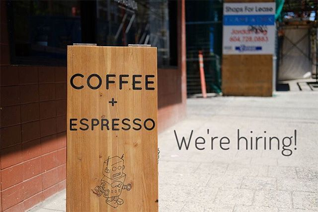 We're looking for part time baristas and bakers; bring in your CV, we'd love to meet you :-)