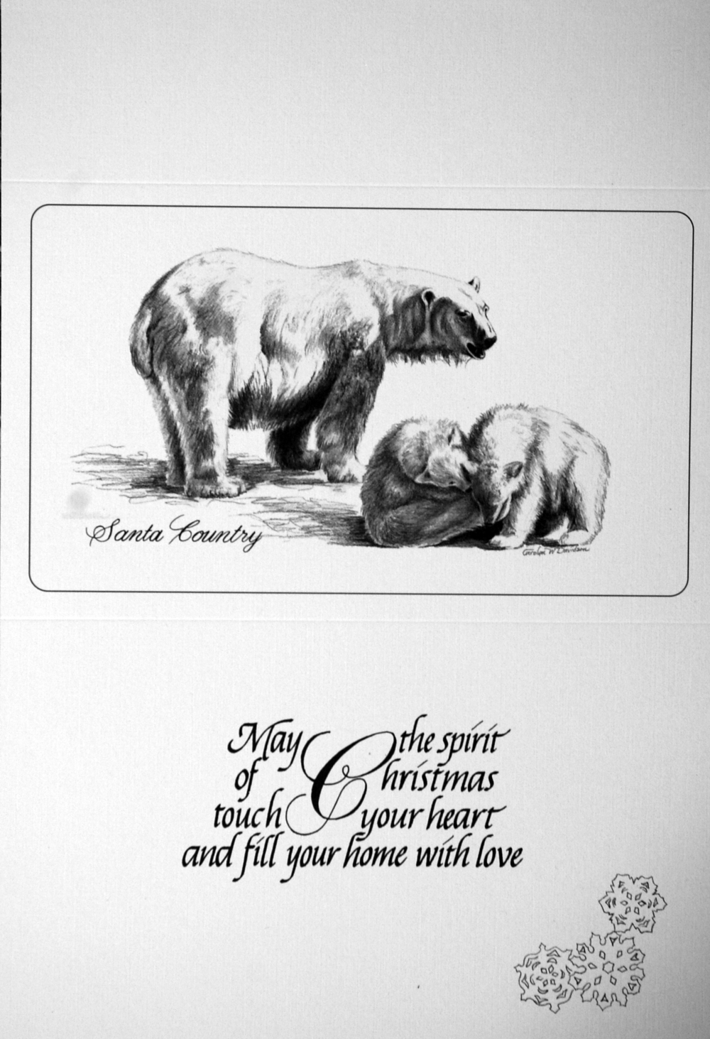 """Santa Country""     ""May the spirit of Christmas touch your heart and fill your home with love""      ( Polar Bears )"