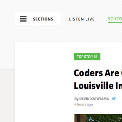 Breaking the navigation into sections allowed readers to discover content immediately.