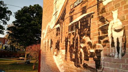 Mercer Mural - Mercer PA closeup