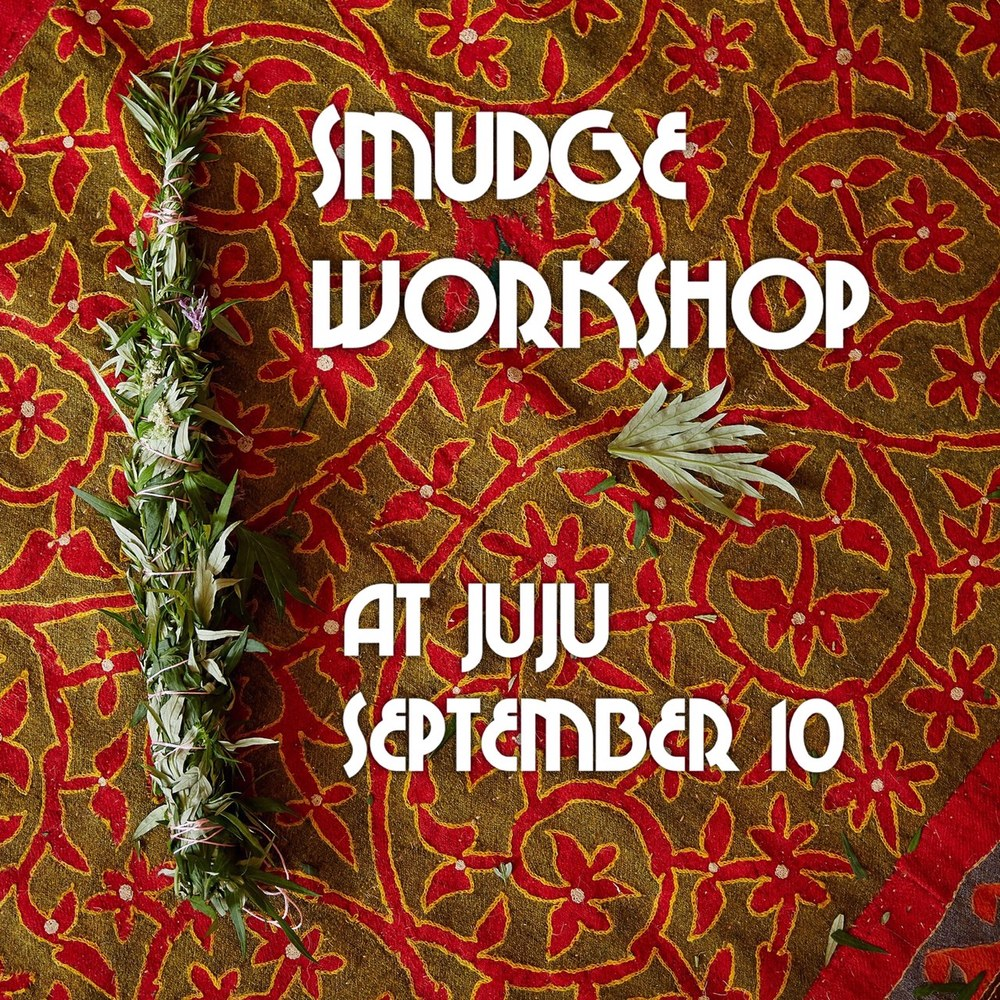 """Smudging"" is the word we use to desc  ribe the ritual act of spiritual cleansing, usually through the method of burning herbs and drawing the smoke over ourselves or in our home. In one form or another, smudging has been an act performed by cultures as a way to cleanse, prepare, and create sacred space.   There are several plants commonly used in the practice of smudging, including white sage, sweet grass, palo santo wood, and mugwort.      Making your own smudge stick is fun and easy! Alison will provide locally harvested mugwort, as well as other fresh herbs and flowers to create this beautiful sacred tool.  She will show you the step-by-step process of making a smudge stick, tell you the plants' stories, as well as the history of smudging.  A smudge ceremony will also be performed to help guide you.    Cost for this class is $30, which includes materials.  All you need to bring is your beautiful self.     RSVP BY SEPTEMBER 5TH"