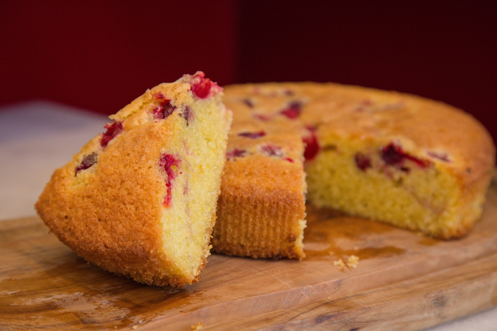 Cranberry Cornmeal Cake / Photo by Eric Vitale Photography
