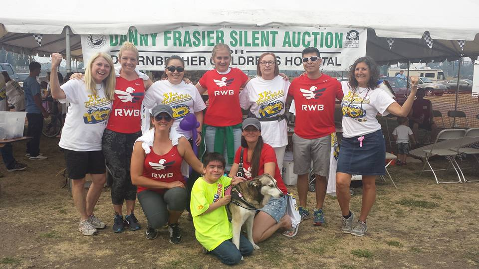 Dash for Kids is Partnered with the local chapter of Red, White and Blue. RWB provided over 20 volunteers for the 2015 event.