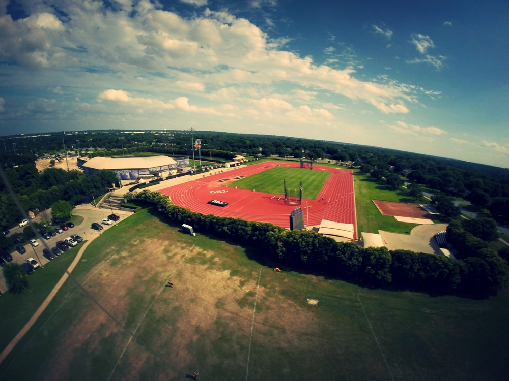 Kite with the Go Pro attached. TCU Campus in Fort Worth, Tx.