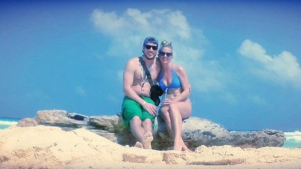 Cancun beaches for two.