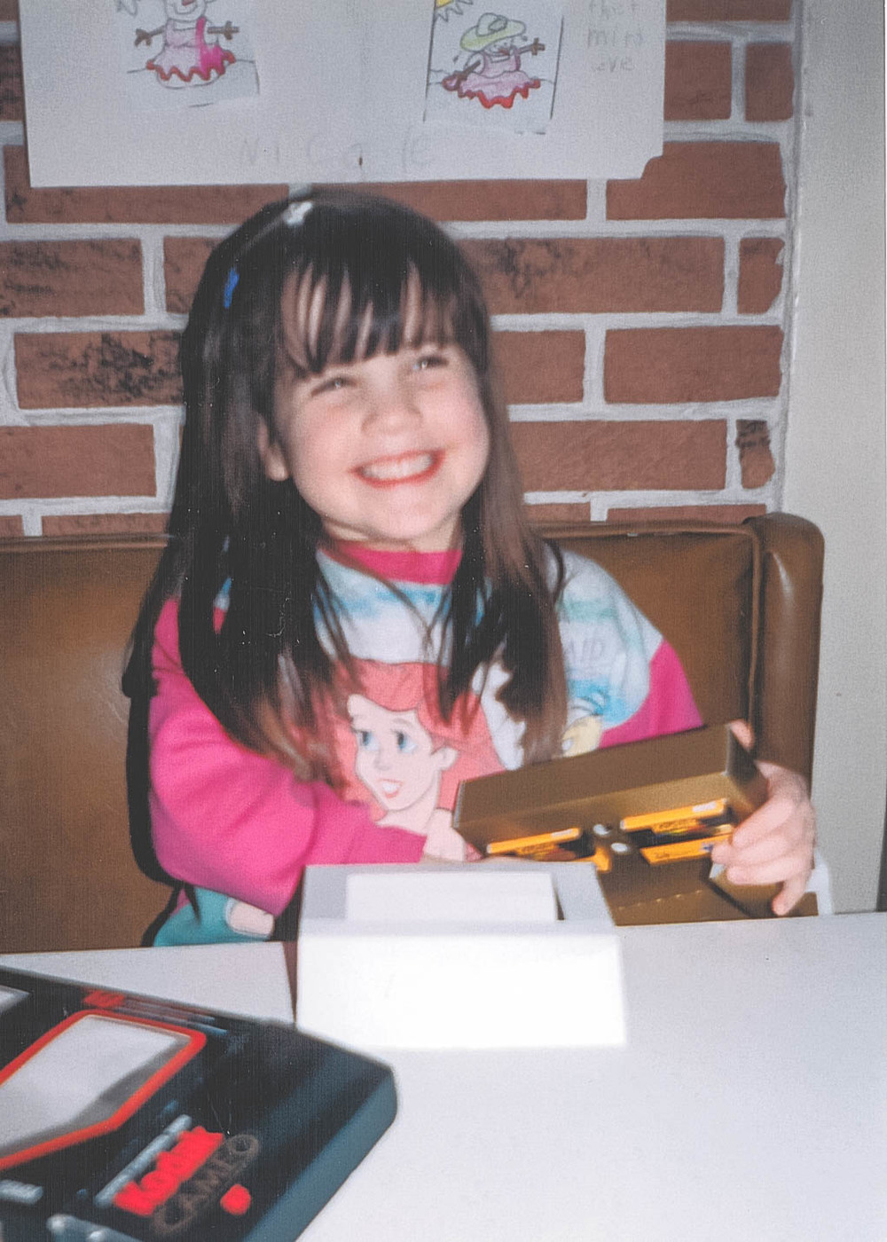 - This is me when I was 4 years old and won my first camera in a colouring contest! It is a Kodak Cameo, and I still have it!