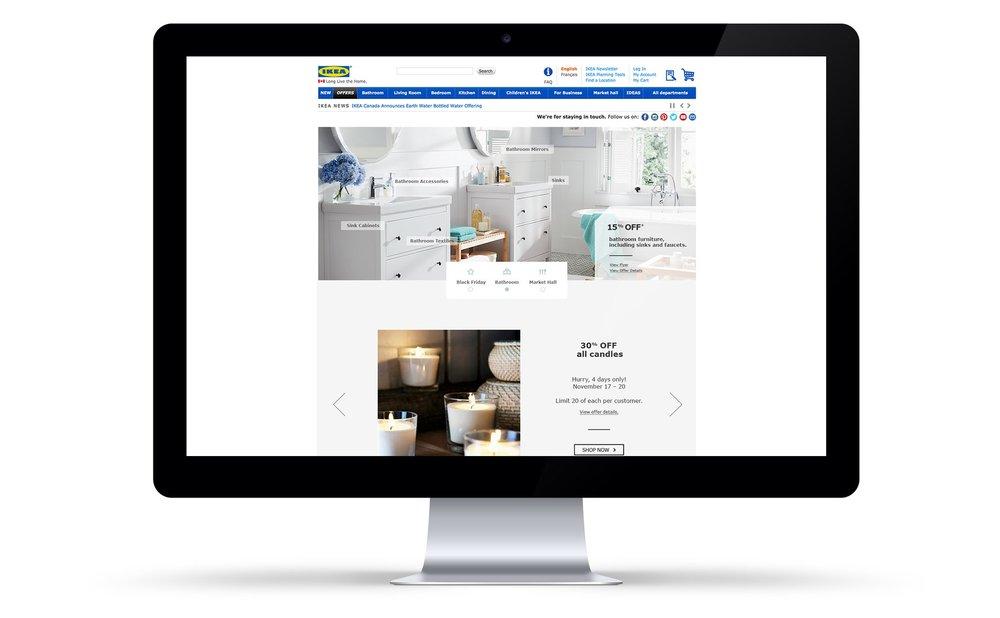IKEA Canada Homepage Design