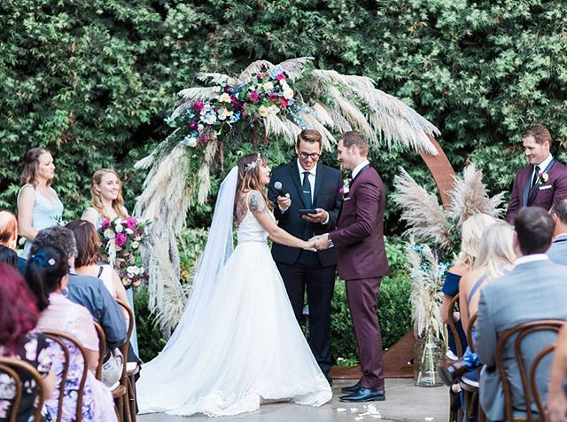 Wedding season is every season... #theweddingpastors #weddings #wedding #weddingdress #weddingcake #weddingdecor #theknot #weddingwire #officiant #orangecounty  Photographer: @ashleyburnsphotography Planning: @fawnevents Floral: @fleur.ish Rentals: @sundrop_vintage & @jakedukestudios Cake: @littlelulus_cc Catering: @24carrots Acrylic & Paper Goods: @doubledippedcalligraphy Mirror Art: @gracewordsbymelanie  DJ: @voxdjs Officiant: @theweddingpastors Hair & Makeup: @kcwitkamp Dress: @panachepasadena Shoes: @jimmychoo Crown: @nordstrom Bridesmaids: @showmeyourmumu Menswear: @friartux Venue: @franciscangardens Transportation: @whiteroselimo