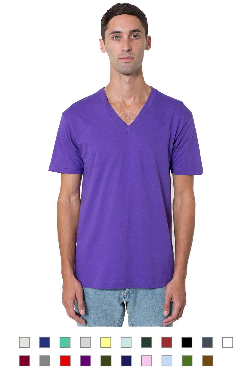 AA2456 -Unisex fine jersey short sleeve v-neck [$15.25]