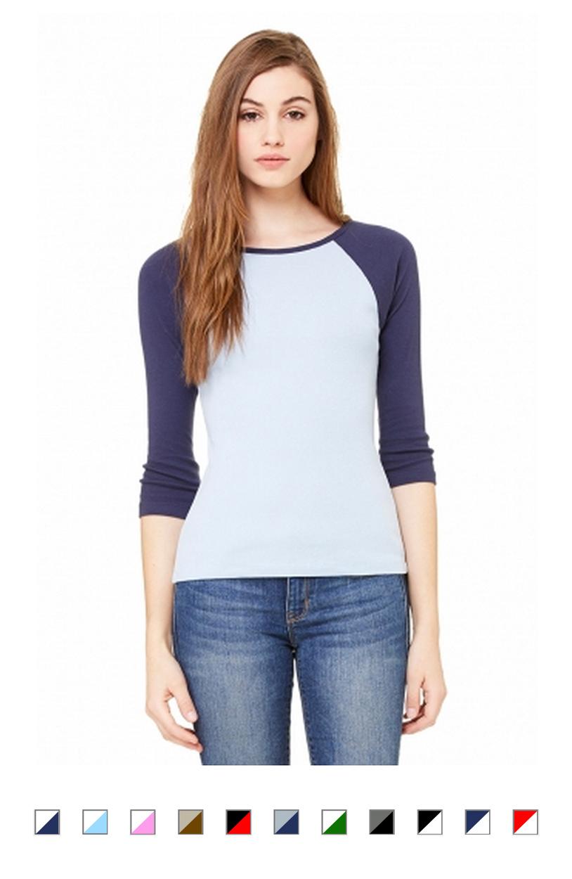 BC2000 -Ladies 3/4 Raglan Sleeve T-Shirt [$18.00]