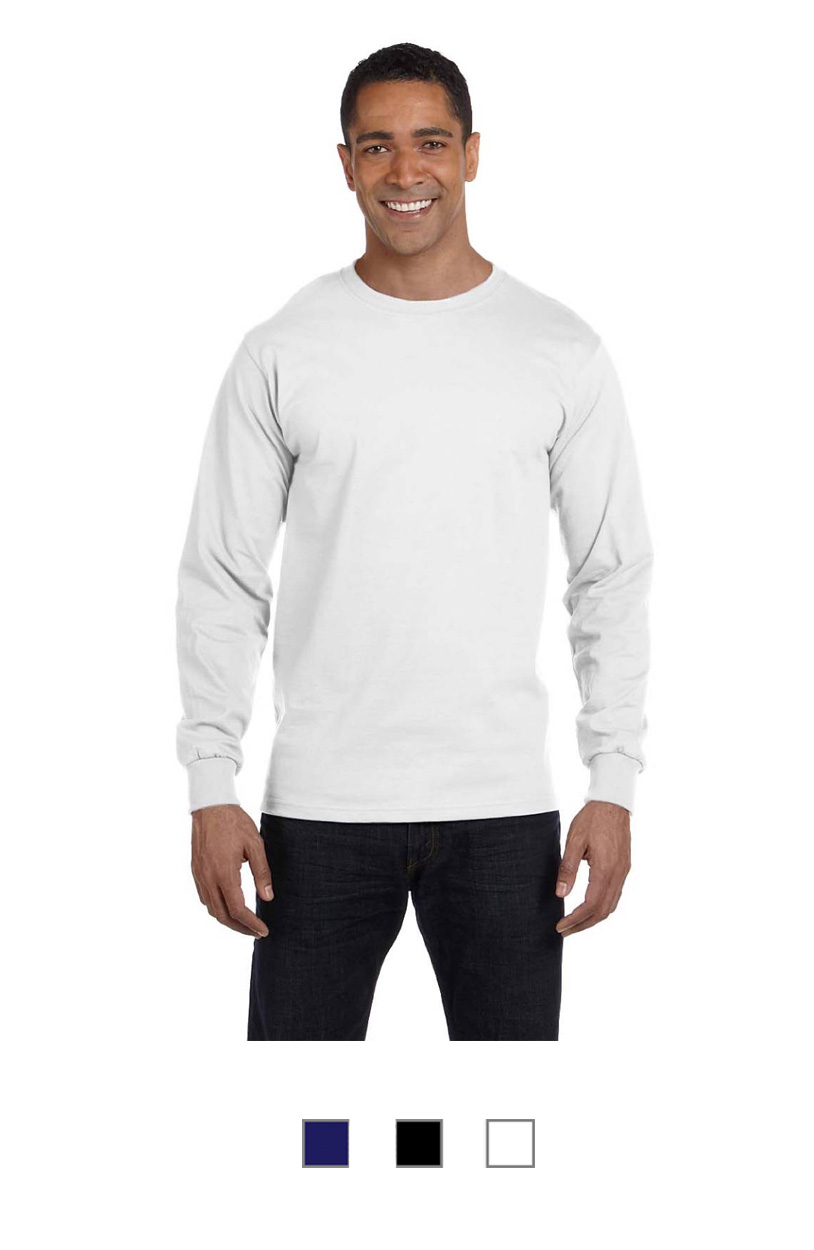 HANES5286 -ComfortSoft Cotton Long-Sleeve T-Shirt [$17.75]