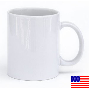White Glossy Mug 11oz Made in the USA [$13.00]