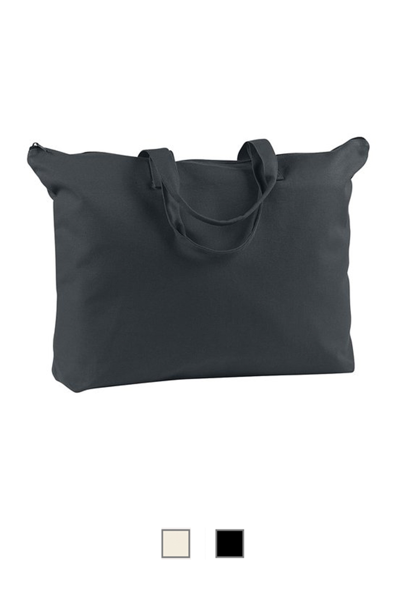 BE009 -Canvas Zippered Book Tote (12oz) [$15.00]