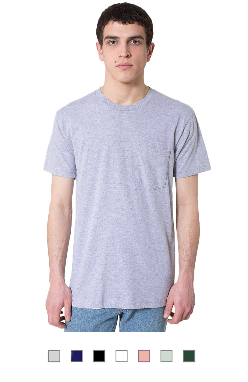 AA2406 -Unisex Fine Jersey Pocket T-shirt [$15.25]