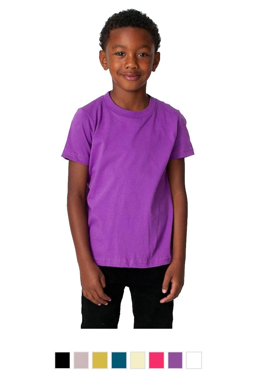 AA2105ORG -Organic Kids Fine Jersey Short Sleeve T-Shirt [$17.00]
