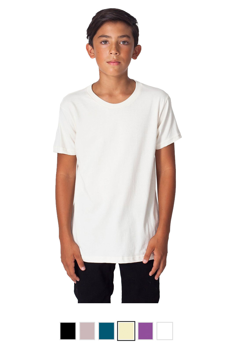 AA2201ORG -Organic Youth Fine Jersey Short Sleeve T-Shirt [$17.50]