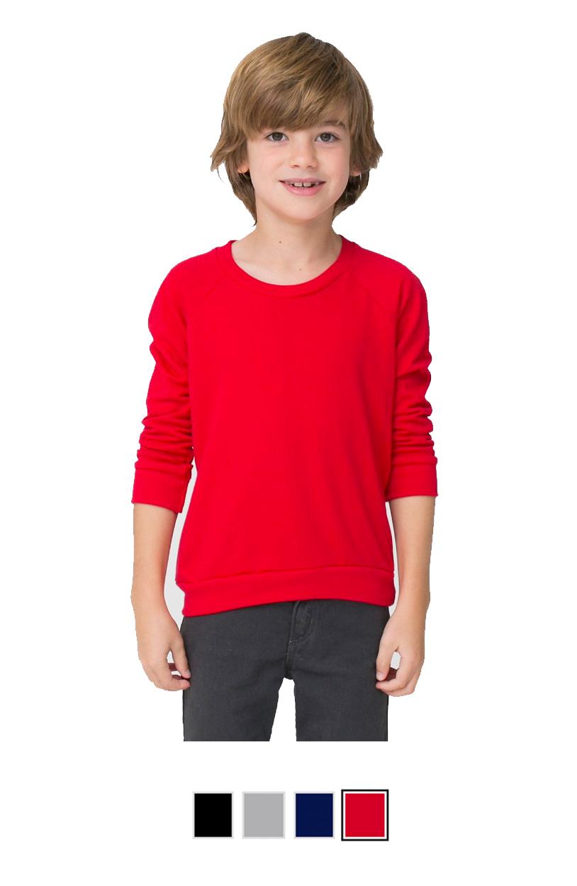 AARSA5154 -Kids California Fleece Raglan [$19.50]
