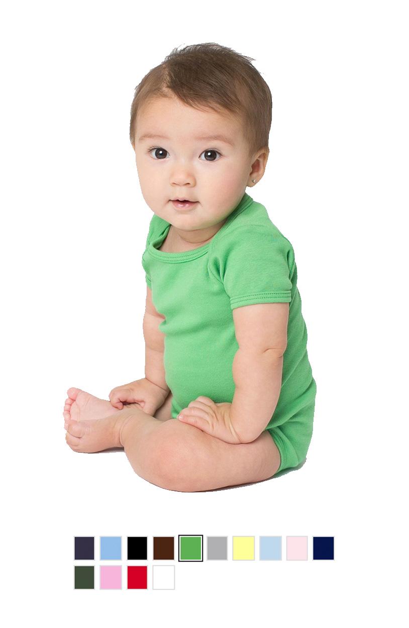 AA4001 -Infant Baby Rib Short Sleeve One-Piece [$15.50]