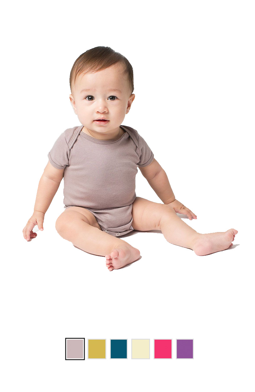 AA4001ORG -Organic Infant Baby Rib Short Sleeve One-Piece [$17.75]