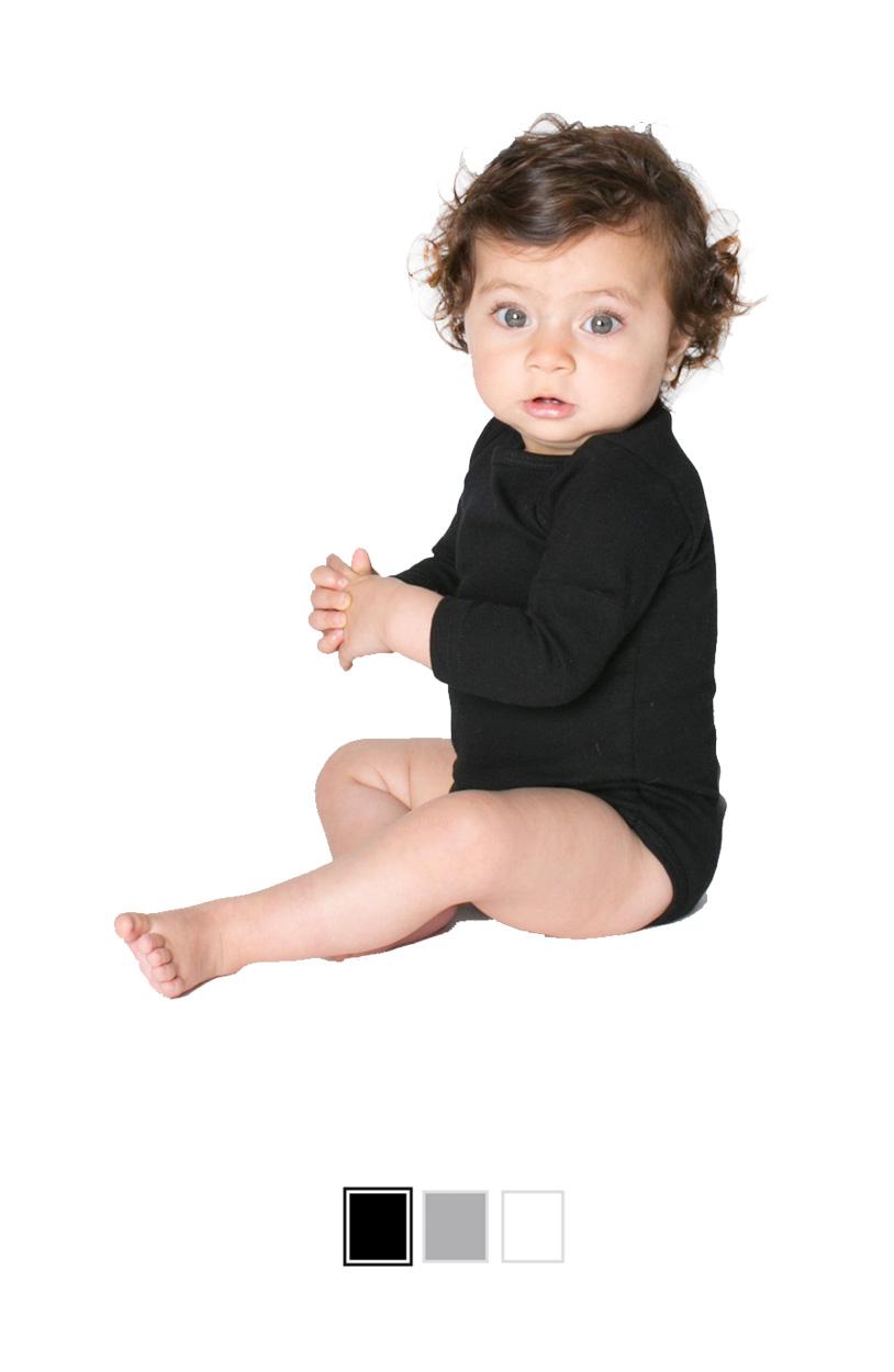 AA4041 -Infant Baby Rib Long Sleeve One-Piece [$16.00]