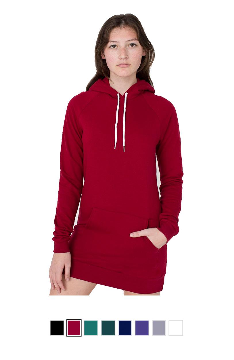 AA5398 -California Fleece Pullover Raglan Hoodie Dress [$31.50]