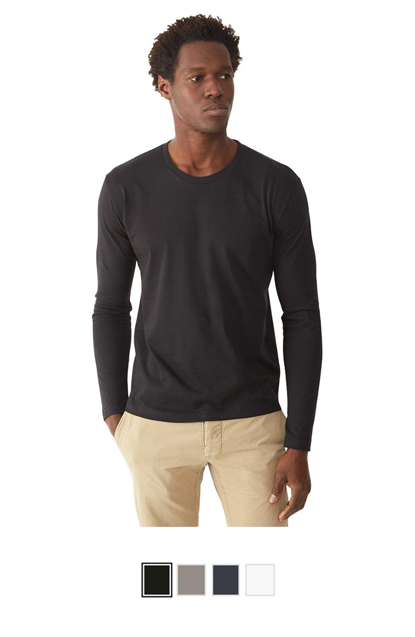 AA1071 -Long Sleeve T-Shirt with Tear Away Label [$18.00]