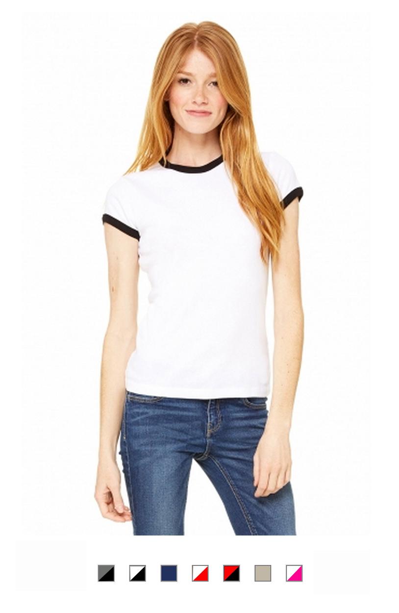 BC1007 -Ladies Ringer T-Shirt [$14.00]
