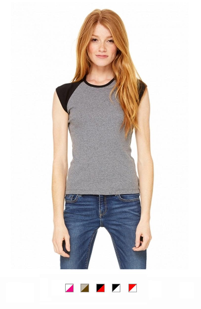 BC2020 -Ladies Raglan Cap Sleeve T-Shirt [$15.25]