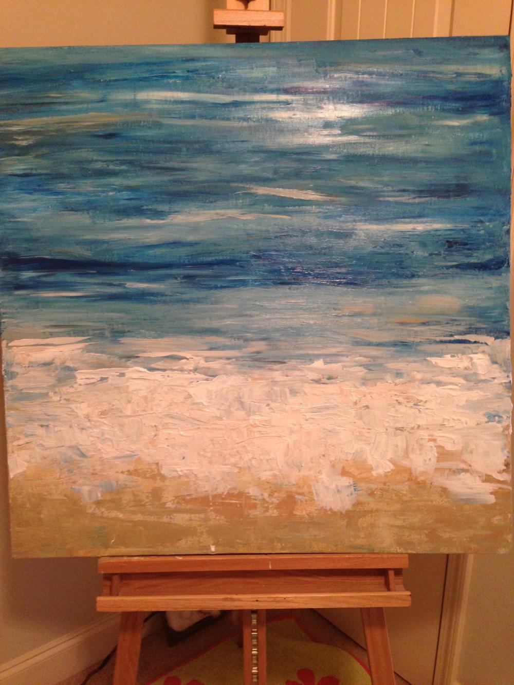 Custom Ocean Scene 36x36