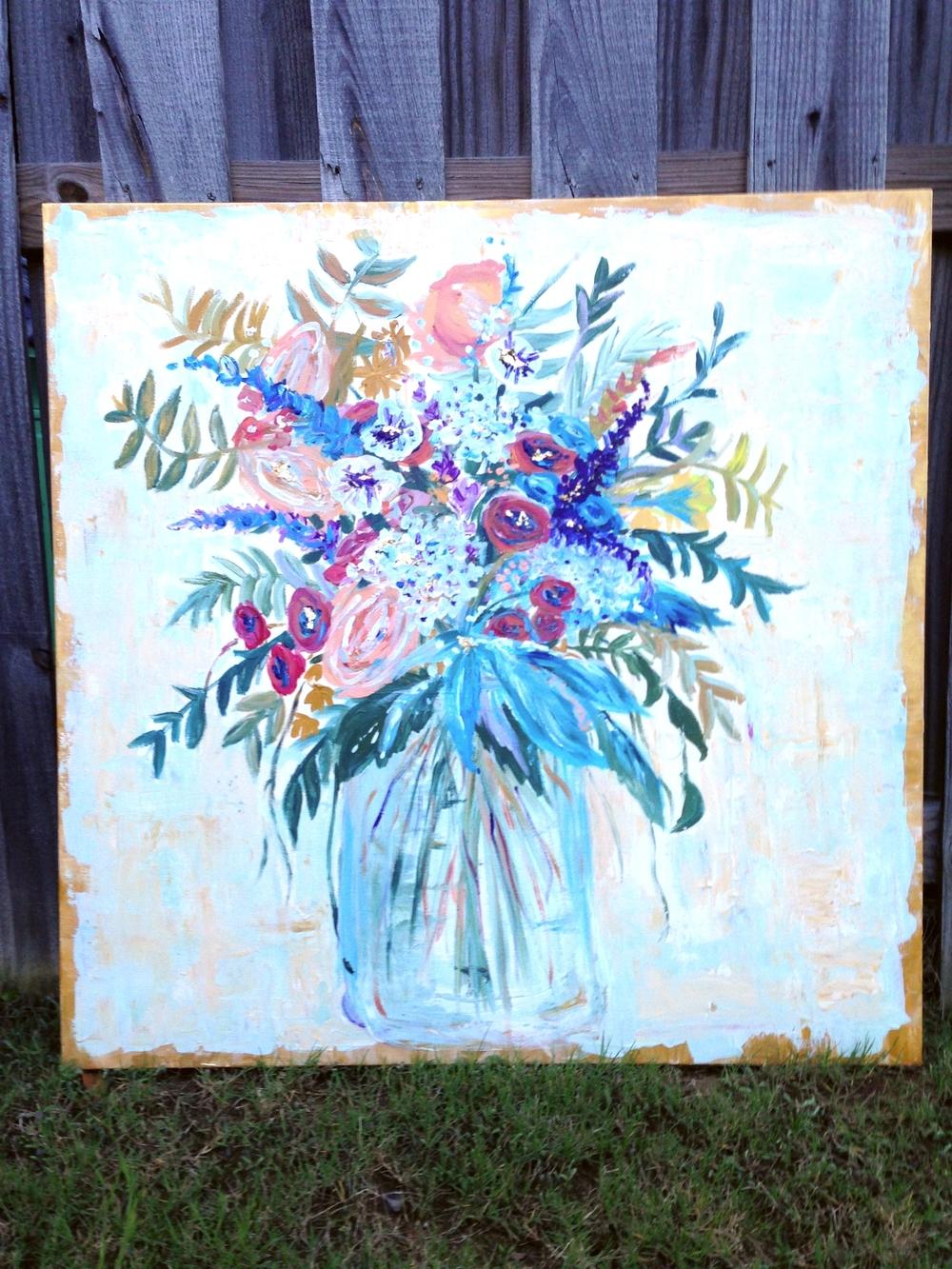 Floral 36x36