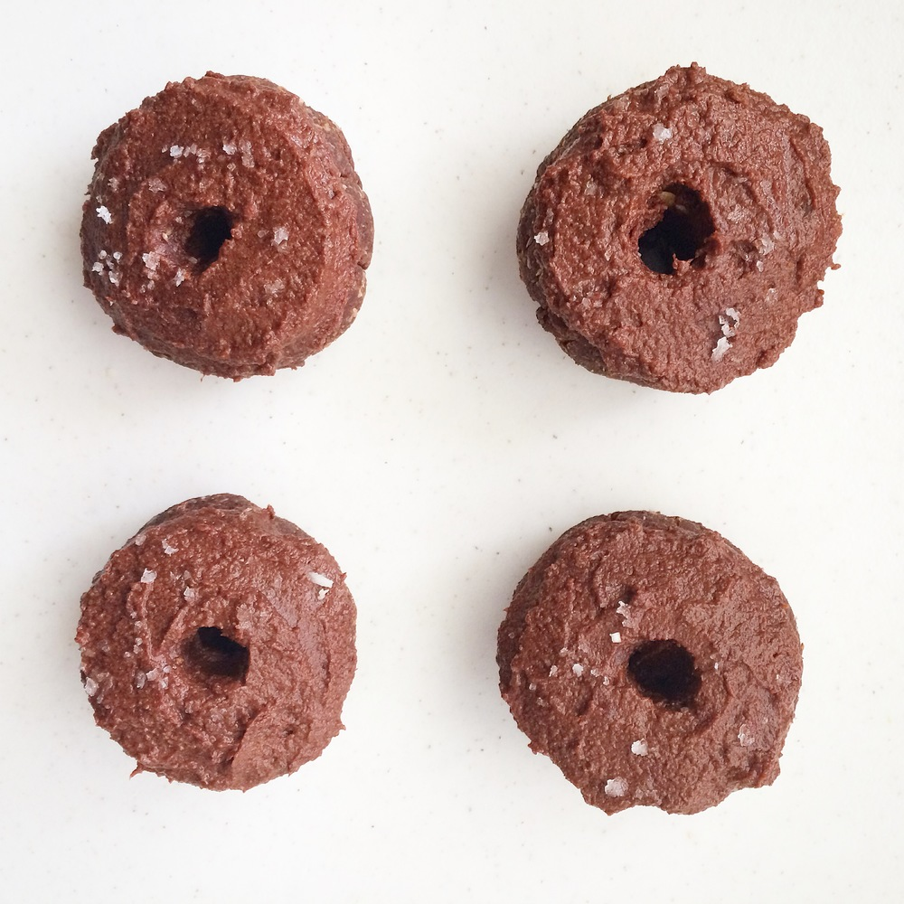 Double Chocolate Donuts with Fleur de Sel (gluten free, vegan, raw) // My Natural Kitchen