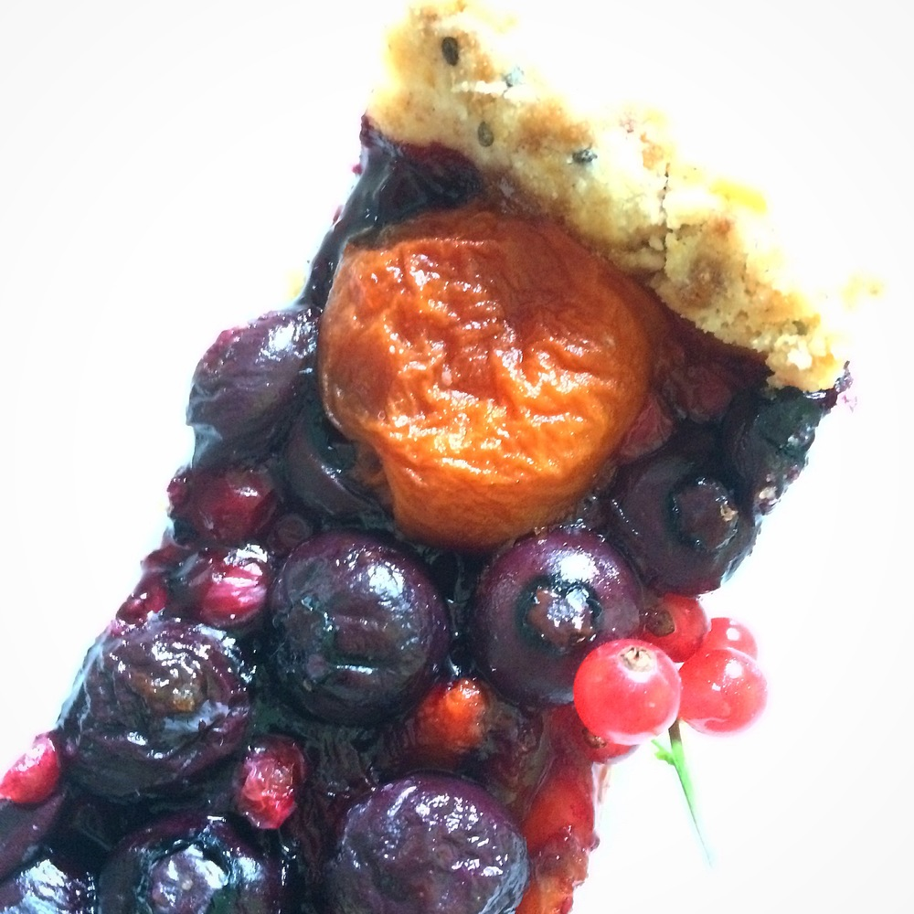 Apricot, Blueberry & Red Currant Tart (gluten free, vegan, nut-free) // My Natural Kitchen