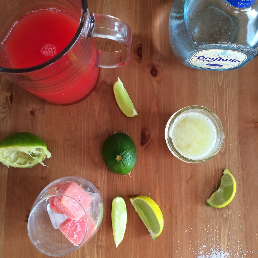 Watermelon Margaritas // My Natural Kitchen