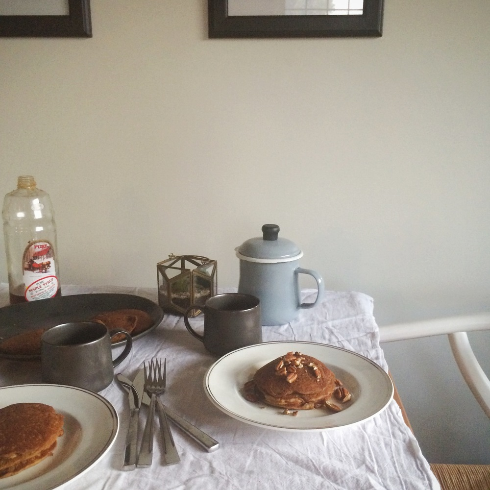 Spiced Pumpkin Pancakes (gluten free & vegan) from My Natural Kitchen