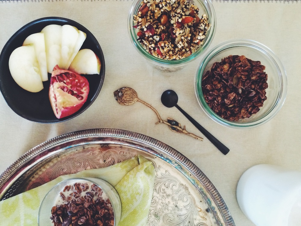 chocolate earl grey granola + rose gogi quinoa granola (gf, v, nf-option) // my natural kitchen