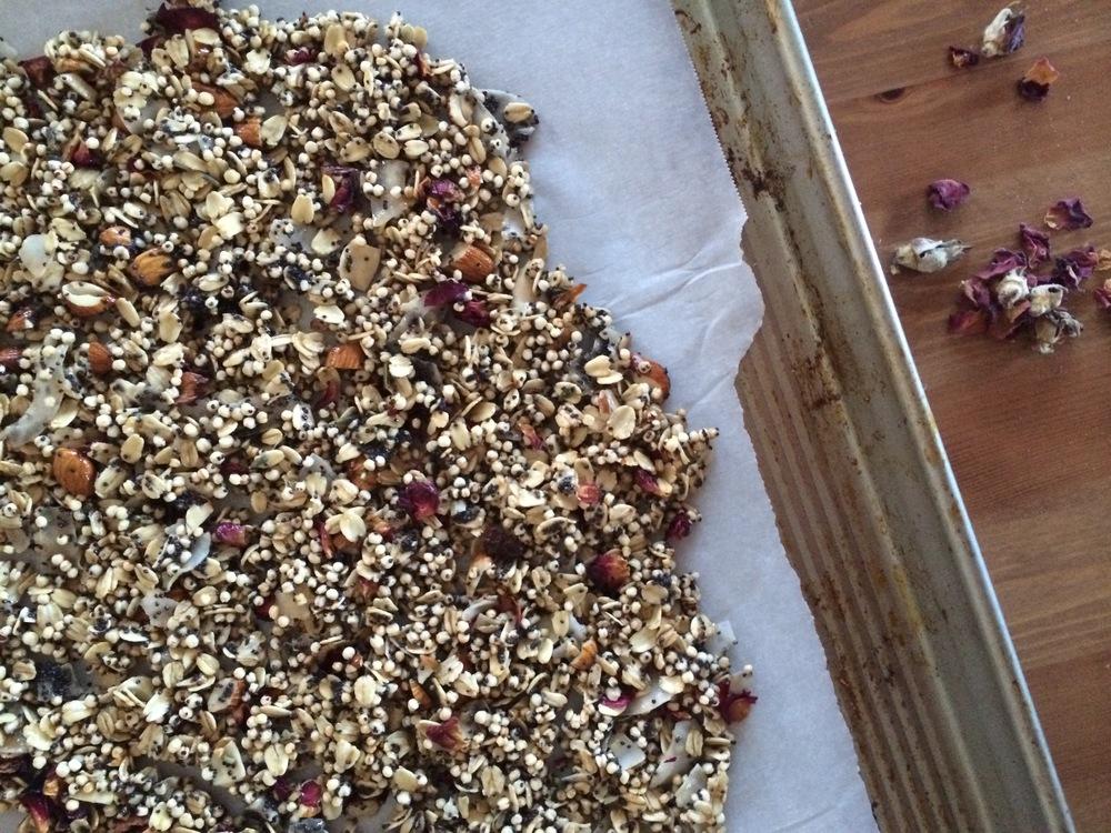 Chocolate Earl Grey Granola + Rose Gogi Quinoa Granola — My Natural ...