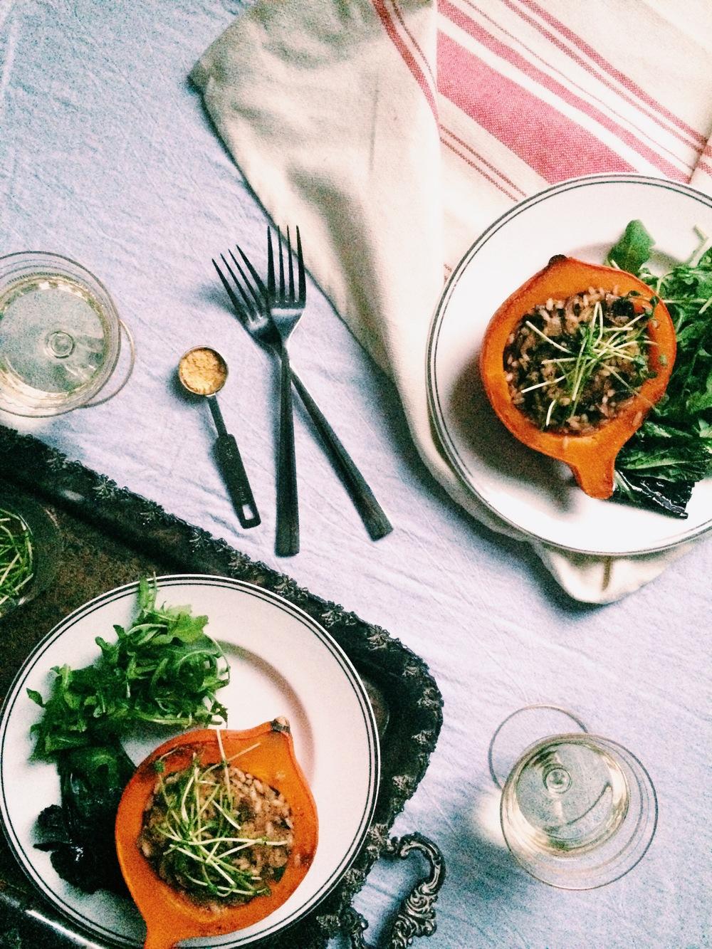 Red Kuri Squash And Wild Mushroom Risotto Recipes — Dishmaps
